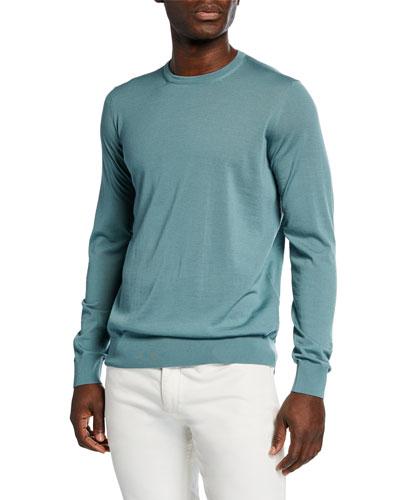 Men's Crewneck Wool Sweater