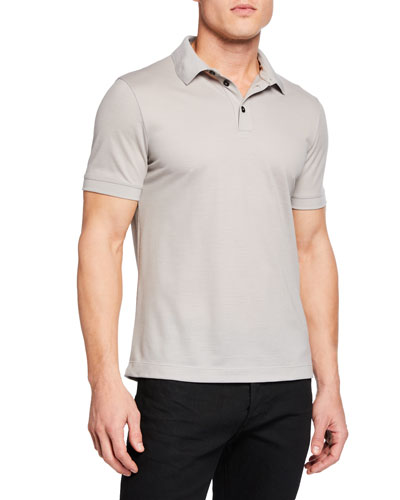 Men's Pure Wool Pique Polo Shirt