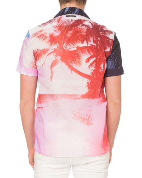 Men's Beach Print Shirt