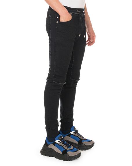 Men's Slim Denim Jersey Sweatpants