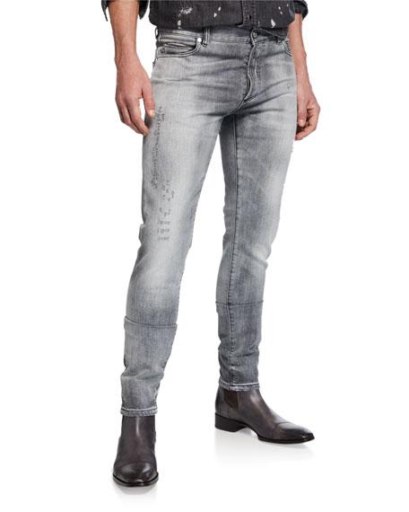 Balmain Men's Vintage-Wash Slim Jeans