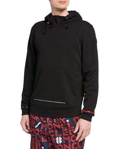 Men's Geometric-Trim Pullover Hoodie
