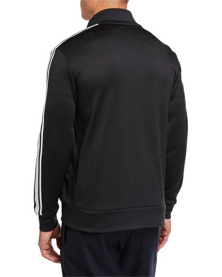 Moncler Men's Contrast-Trim Zip-Front Jacket