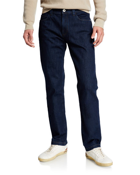 Loro Piana Jeans MEN'S 5-POCKET STRAIGHT-LEG DENIM JEANS