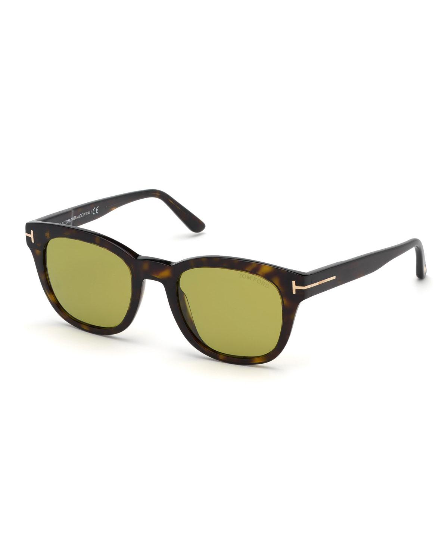 c5db4e60107 TOM FORD Men s Eugenio Square Plastic Sunglasses