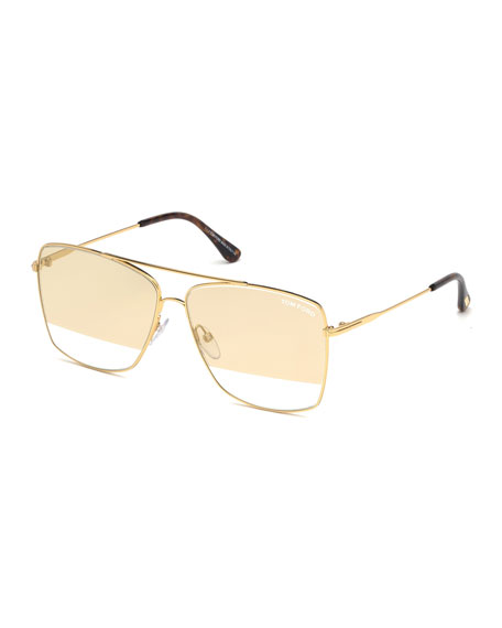 TOM FORD Men's Magnus Golden Metal Sunglasses