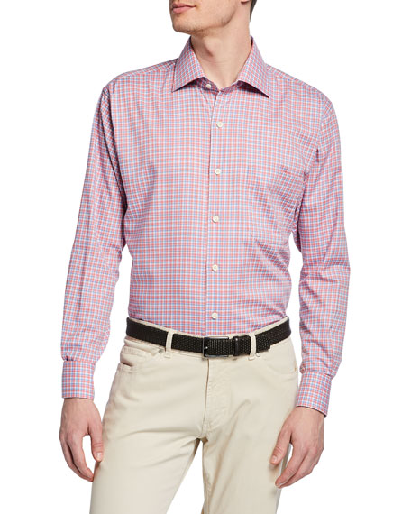 Peter Millar T-shirts MEN'S POINT DANGER CHECK SPORT SHIRT