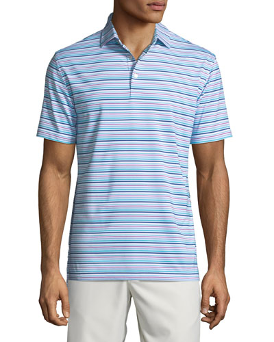 Men's Morgan Striped Jersey Polo Shirt