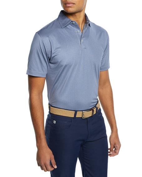 Peter Millar Men's Roch Knots Print Polo Shirt