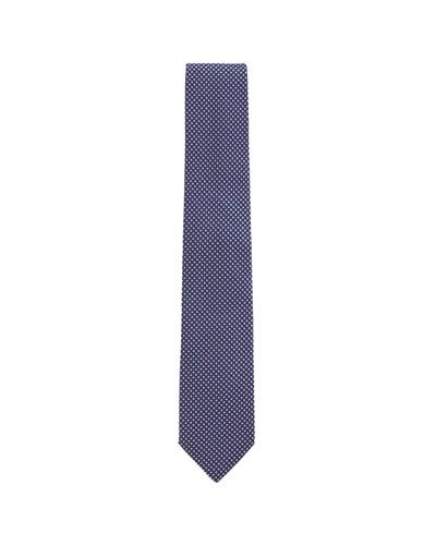 Men's Dot Jacquard Tie  Lavender/Pink
