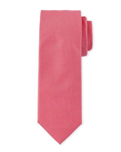 Modern-Cut Micro-Dot Silk Jacquard Tie
