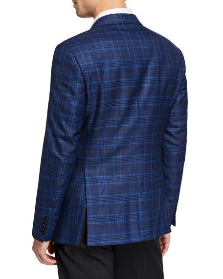 Men's Super 130's Plaid Sport Jacket