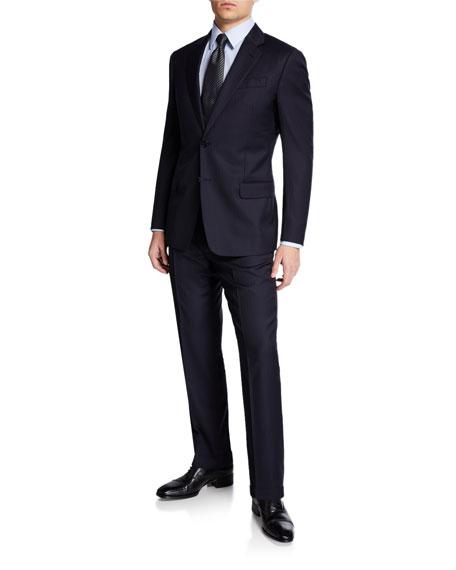 Men's Two-Piece Super 130s Stripe Suit