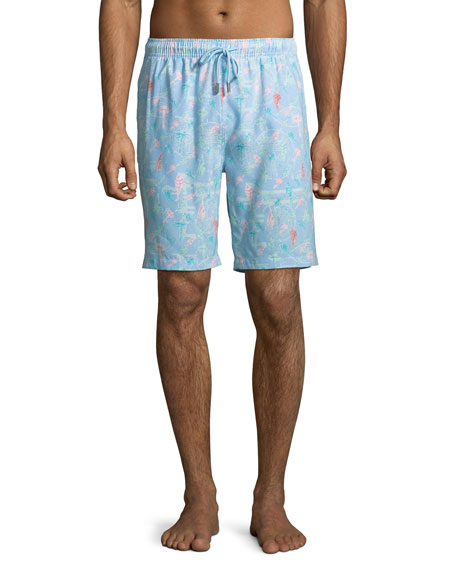 Peter Millar Men's Fly Fish Swim Trunks
