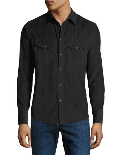 Men's Beck Corduroy Western Shirt