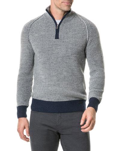 Men's Mackinder Half-Zip Wool Sweater