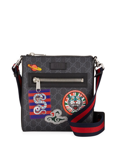 Men's GG Supreme Patches Messenger Bag