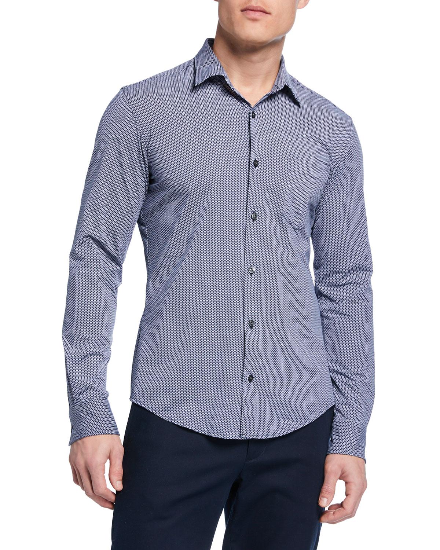 36f5b85f4 BOSS Men's Ronni Slim-Fit Micro-Pattern Sport Shirt | Neiman Marcus