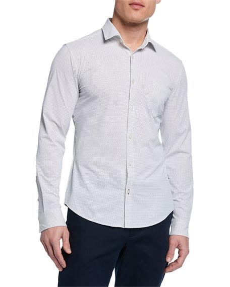 Boss T-shirts MEN'S RICKI SLIM-FIT MICRO-PATTERN SPORT SHIRT