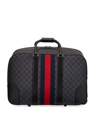 625e3c901d5e Gucci Men s GG Supreme Rolling Weekender Duffel Carryon Bag