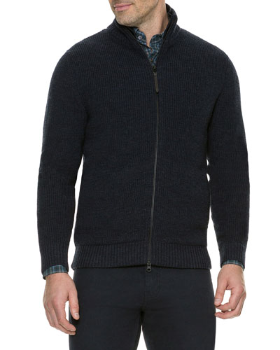 Men's Cameron's Rib-Knit Track Jacket