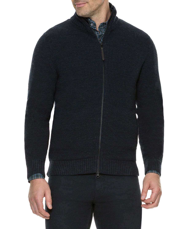 Rodd & Gunn Men's Cameron's Rib-Knit Track Jacket