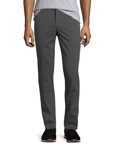 Men's Standard Issue Fit 2 Flyweight Mid-Rise Relaxed Slim-Fit Chinos, Smoke Gray