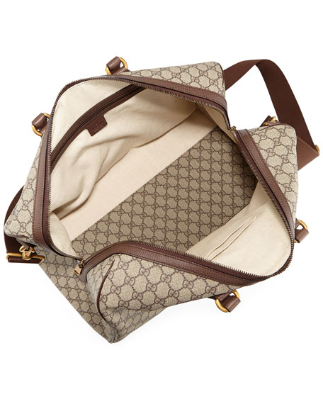 Gucci Men's Soft GG Supreme Carry-On Duffel Bag