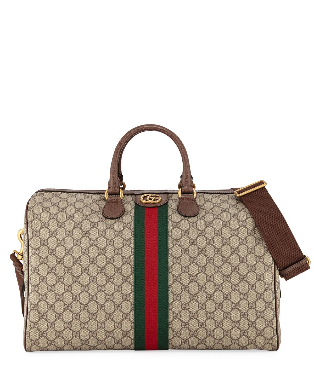341b0e781fdc Gucci Men's Soft GG Supreme Carry-On Duffel Bag | Neiman Marcus
