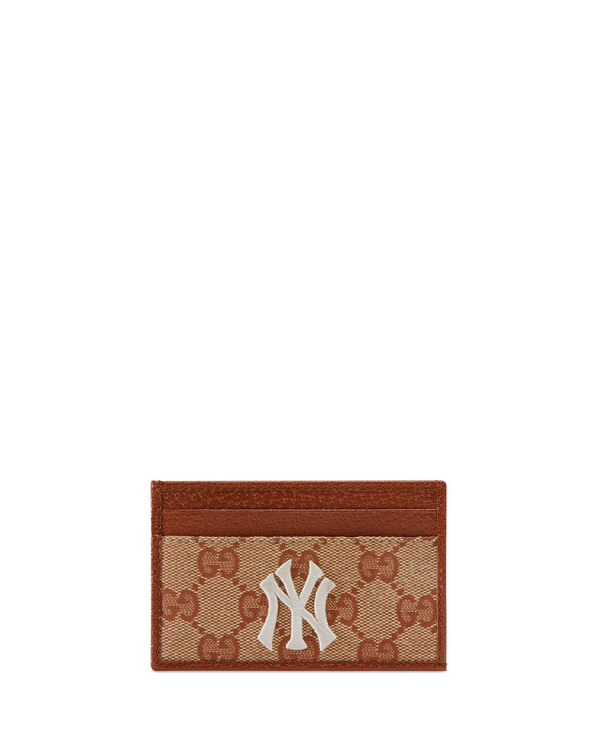 a03e37a184d6 Gucci Men s Credit Card Case with NY Yankees™ Patch