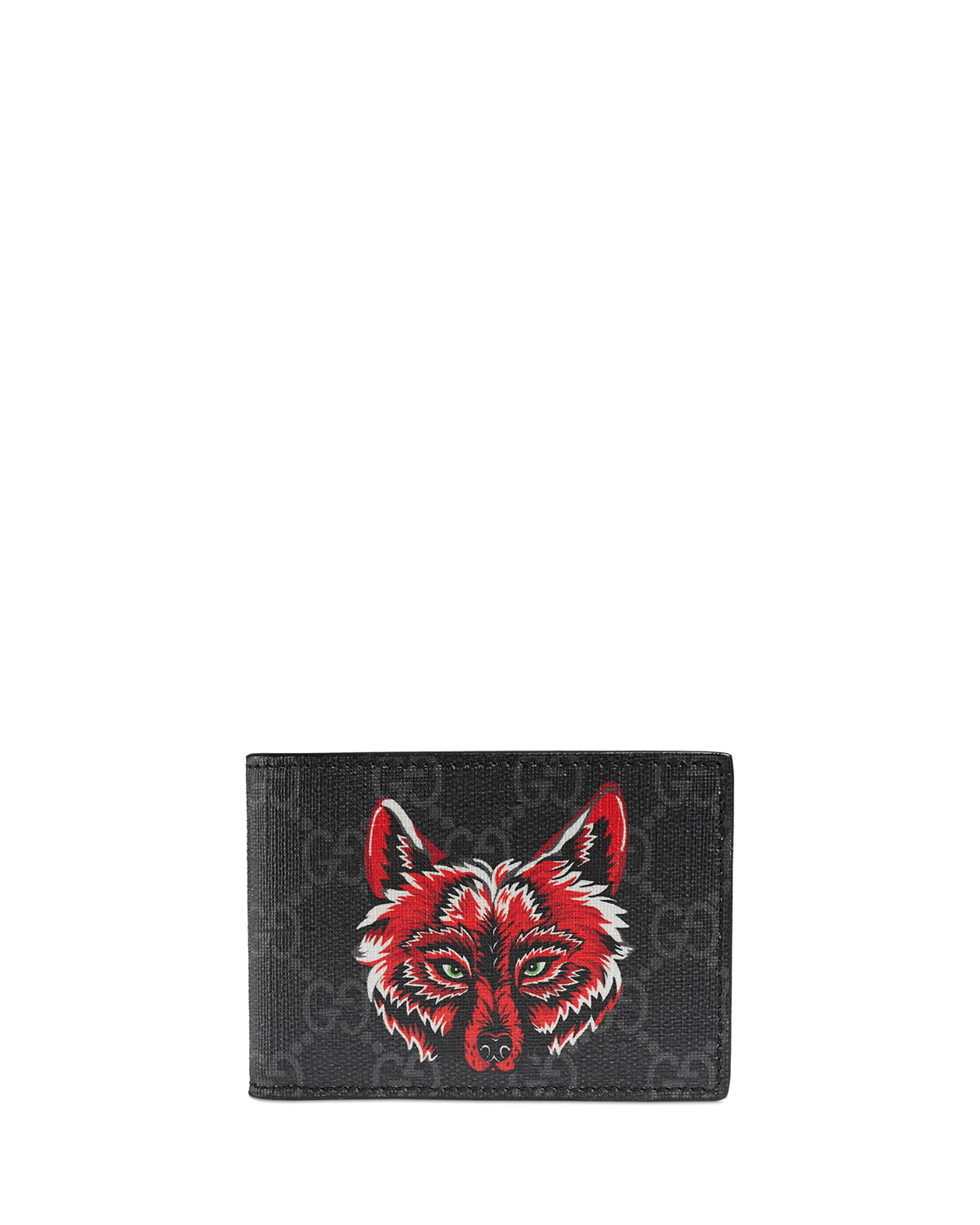 2bd933312f05 Gucci Men's Wolf-Print GG Supreme Wallet | Neiman Marcus