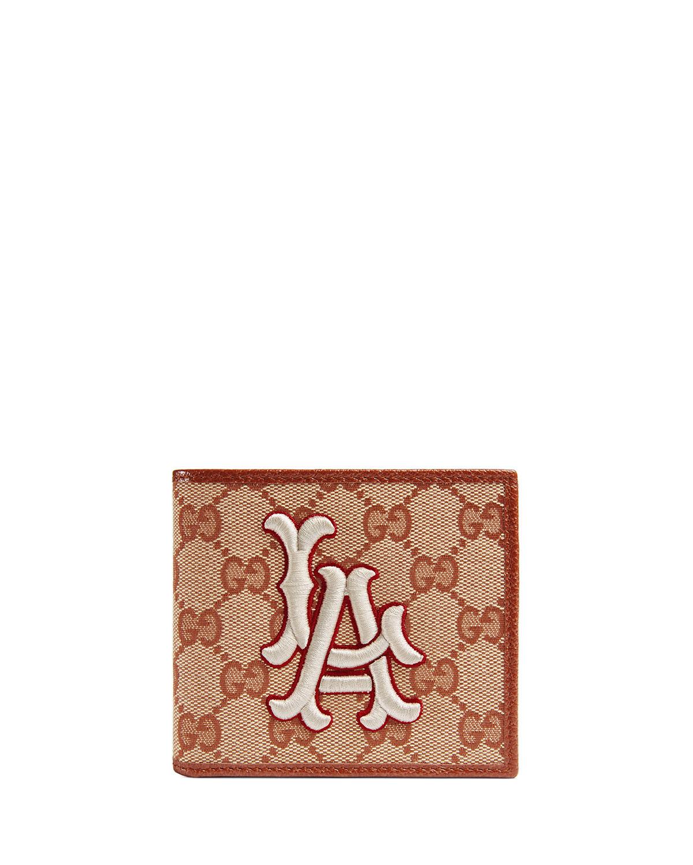 5c40a46f54f4a3 Gucci Men's LA Angels GG Supreme Wallet | Neiman Marcus