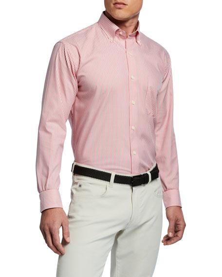 Peter Millar Men's Capri Stripe Woven Sport Shirt
