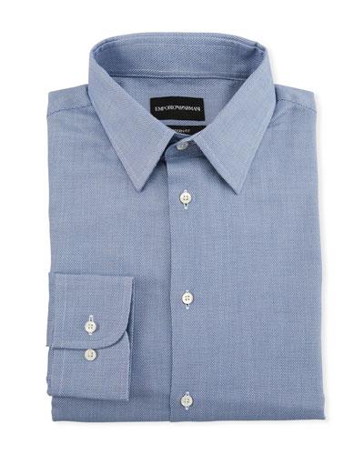 Men's Tonal Square Modern-Fit Dress Shirt