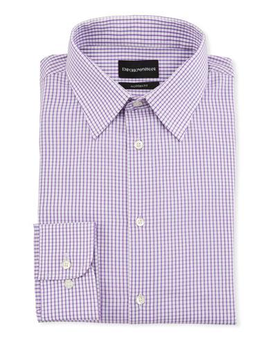 Men's Modern-Fit Tonal Square Dress Shirt