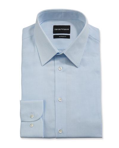 Men's Modern-Fit Stripe Dress Shirt