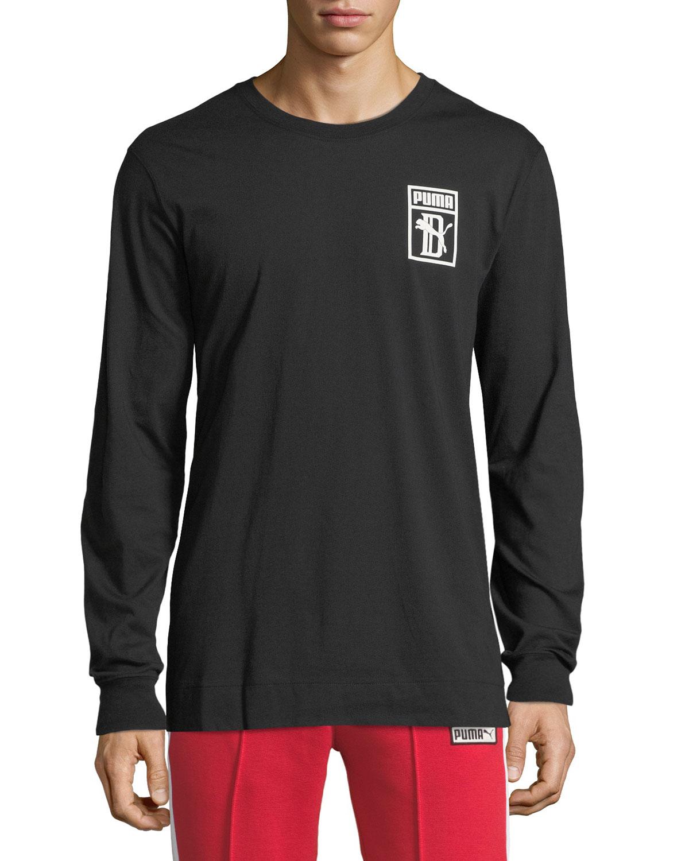f112b1e8b0 Men's x Big Sean Logo Long-Sleeve T-Shirt, Black