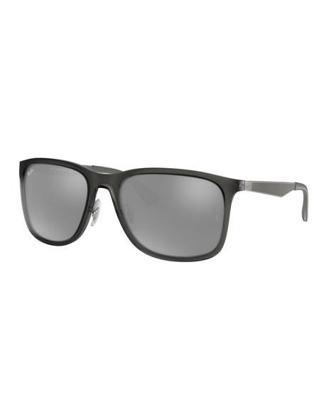 Ray-Ban Men's Square Mirrored Propionate Sunglasses