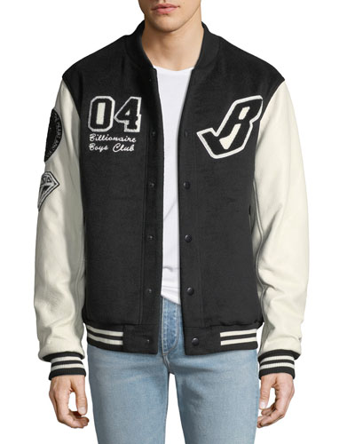 Men's Cotton Letterman's Jacket