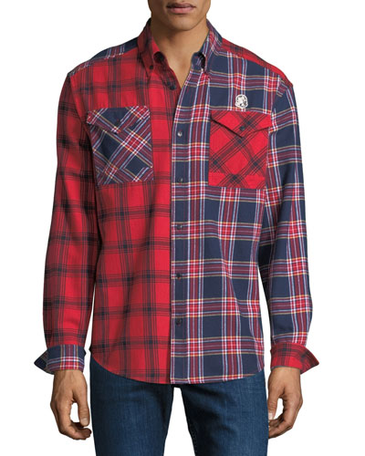 Men's Plaid Woven Sport Shirt