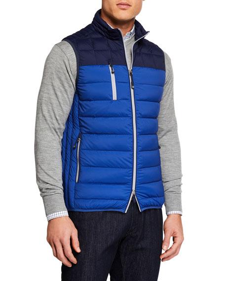 Peter Millar Men S Crown Elite Colorblock Puffer Vest