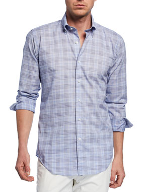 2636d45e19c Peter Millar Men s Jozi Plaid Long-Sleeve Shirt