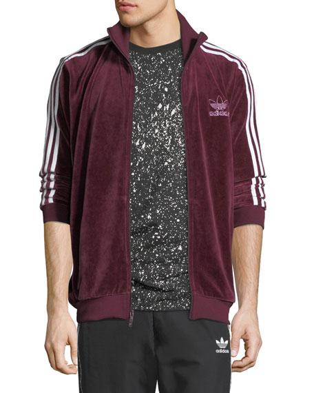 Adidas Men's Velour Track Jacket