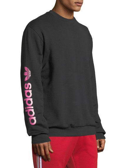 Adidas Men's Graphic Crew Long-Sleeve Sweater