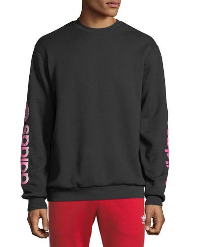 Men's Graphic Crew Long-Sleeve Sweater