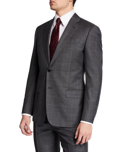 Men's Super 140s Micro Grid Two-Piece Suit