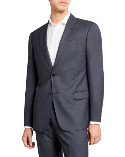 Men's Super 140s Wool Neat Ice Two-Piece Suit