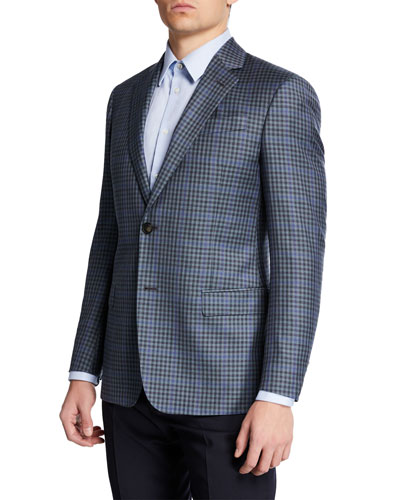 Men's Super 130s District Check Sport Coat