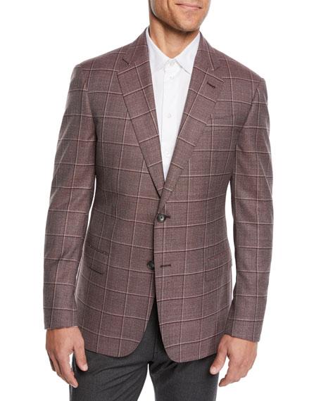 Men's Tonal Windowpane Sport Coat