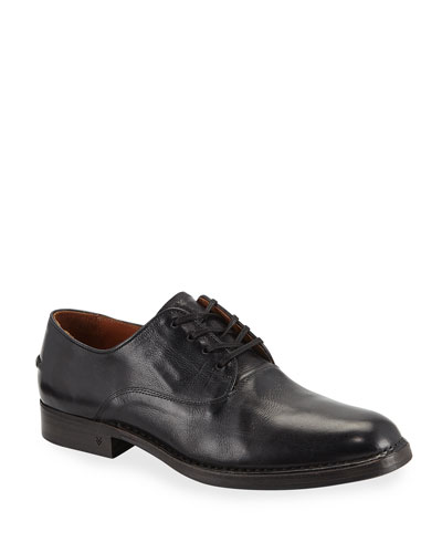 Men's Moccasin Leather Derby Shoes